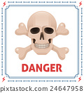 Danger symbol with skull and crossbones 24647958