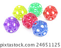 abstract colored balls, 3D rendering 24651125