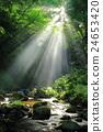 瀑布 光束 旅遊勝地 24653420