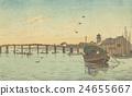 """Tokyo in Meiji era: Yasuharu Inoue (1864-1889) """"Shin Ohashi"""" 24655667"""