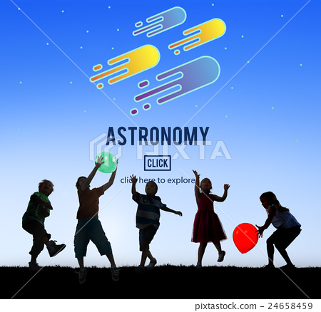 Astronomy Science Solar System Astrology Shooting Star Concept 24658459