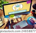 Mobile Phone Cellphone Cellular Communicate Concept 24658877