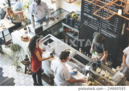 Stock Photo: Coffee Shop Bar Counter Cafe Restaurant Relaxation Concept