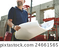 Architect Outdoors Working Construction Site Concept 24661565