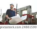 Architect Outdoors Working Construction Site Concept 24661590