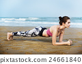 seaside, training, woman 24661840