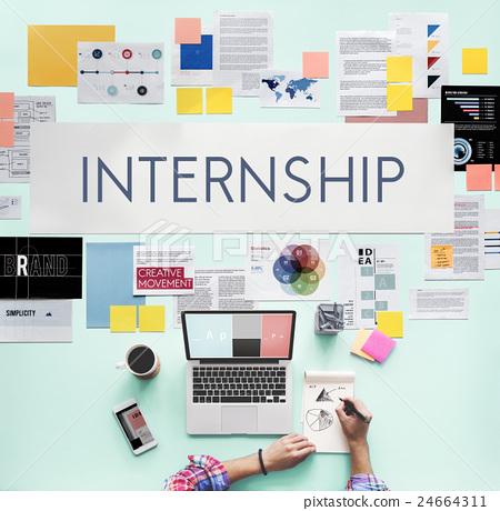 Internship Management Temporary Position Concept - Stock