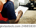 Architect Outdoors Working Construction Site Concept 24665830