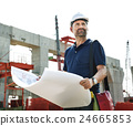 Architect Outdoors Working Construction Site Concept 24665853