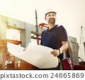 Architect Outdoors Working Construction Site Concept 24665869
