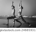 Yoga Exercise Active Beach Outdoor Concept 24665931