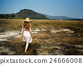 Female Outdoors Stroll Walking Free Concept 24666008