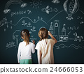 Blackboard Drawing Creative Imagination Idea Concept 24666053