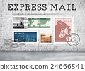 Airmail Mail Postcard Letter Stamp Concept 24666541