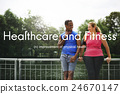 Healthcare And Fitness Outdoors People Graphic Concept 24670147