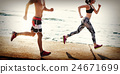 Yoga Exercise Active Beach Outdoor Concept 24671699