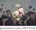 PhD Doctor of Philosophy Degree Education Graduation Concept 24674104