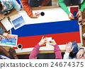 Russia Flag Patriotism Russian Pride Unity Concept 24674375