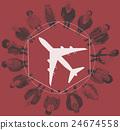 Aeroplane Transport Travel Journey Graphic Concept 24674558