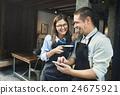 Barista Partner Working Coffee Shop Concept 24675921