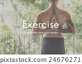 Exercise Fitness People Outdoors Graphic Concept 24676271