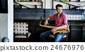 Jazzman Musical Artist Playing Saxophone Concept 24676976