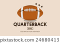 Quaterback American Football Athlete Game Concept 24680413