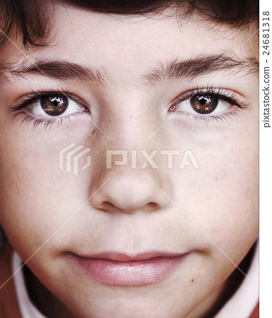 preteen boy face close up portrait 24681318