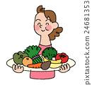 vegetables, vegetable, female 24681353