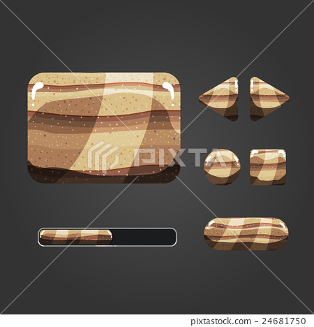 Set of sand different buttons 24681750