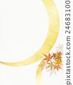 배경, 일본풍 무늬, 가을 24683100