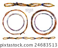 Watercolor braided rope frames set 24683513