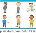 kid boys characters cartoon set 24683934