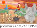 animals group cartoon illustration 24683959