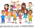 kids or teens group cartoon 24683964