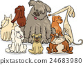 cartoon purebred dogs group 24683980