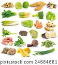set of vegetable on white background 24684681