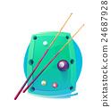 Vector Design Billiards, pool and snooker sport 24687928