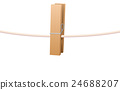 Clothespin On Clothesline 24688207