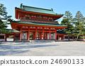 heian shrine, heian palace southern gate, heian palace main southern gate 24690133