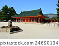 heian shrine, byakkoro, heian palace main southern gate 24690134