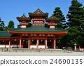 heian shrine, byakkoro, heian palace main southern gate 24690135