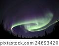 오로라, 알래스카, 밤하늘 24693420