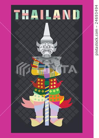 Flat design, Thai giant statue, vector 24693494
