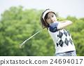 여성, 인물, 골프 24694017
