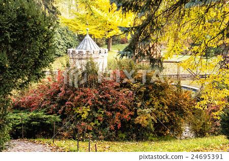 Turret in Bojnice, Slovak republic, autumn park 24695391