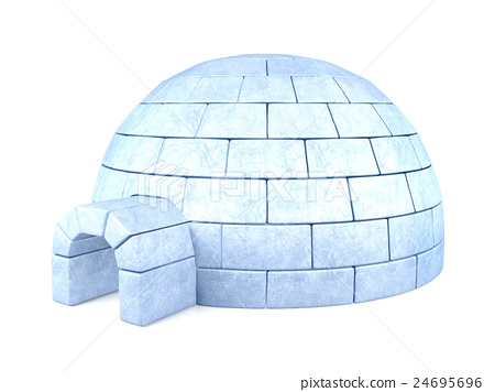 Iced igloo isolated on white background 24695696