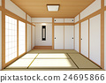 Empty Japanese living room interior  24695866