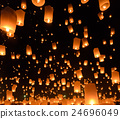 Sky lanterns festival in Chiang Mai, Thailan 24696049