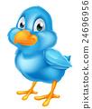 Cartoon Blue Bird 24696956